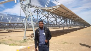 CAJ News Editor-In-Chief, Savious Kwinika touring Africa's largest solar plant in Poffader, Upington, Northern Cape
